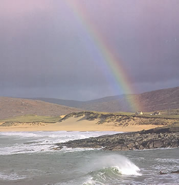 Outer Hebrides, rainbow